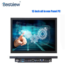 "1024*768 15"" industrial fanless touch panel pc/computer quad cores"