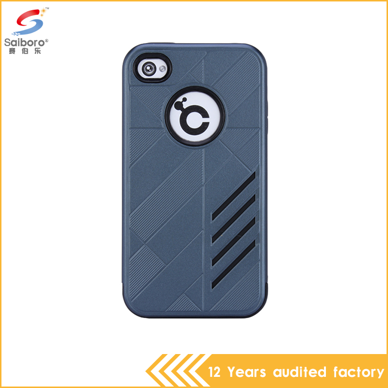 wholesale Low price custom gray color armor phone cases cover for apple iPhone 4 4s 4G