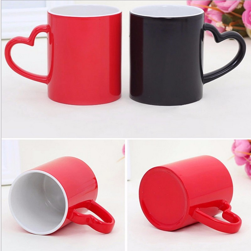 2015 NEW PRODUCT Smooth color change Magic mugs Creative heat transfer thermal mug