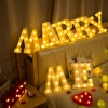 LED Battery Powered Marquee Letter Lights Alphabet Light Up Sign for Christmas Home Party Bar Decoration Night Light Lamp