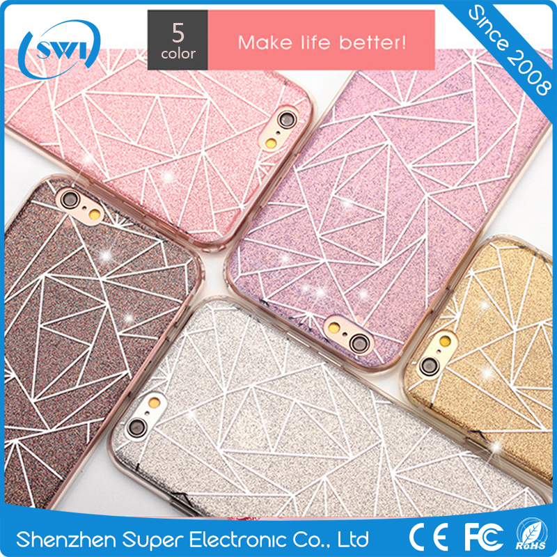 Fashion Glitter shine bling cell phone accessories case for iphone 6 6plus
