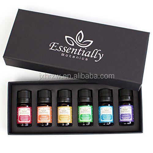100% Pure Essential Oil Gift Set 6bottles*10ml For Lavender,Tea Tree, Eucalyptus, Rosemary, Orange, Peppermint