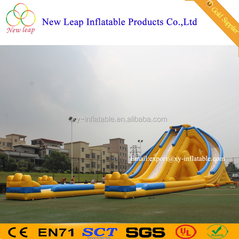 giant inflatable trippo water slide for adult/hippo giant inflatable water slide