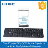top sale portable folding wireless keyboard wholesale mini bluetooth foldable keyboard for iphone 6