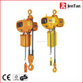 Electric chain hoist with motor trolley and manual trolley