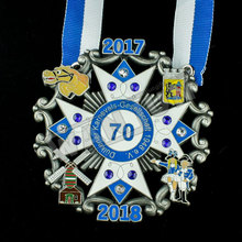 Crystal decorate sport trophies and awards medal