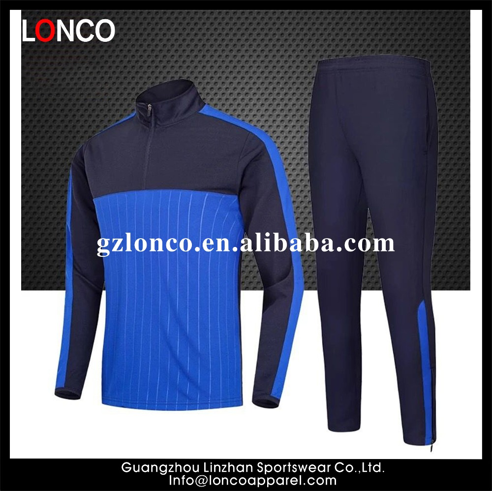 soccer tracksuit latest design football uniforms full set soccer tracksuit fitness 2017 European hot club soccer tracksuits