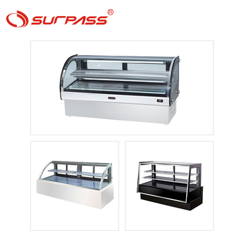 Professional Refrigerated Product Cake Display Fridge Glass Cake Dessert Chiller for bakery