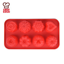 Silicone rose flower shape chocolate praline baking mould