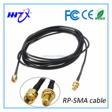 Rg58 coaxcial jumper cable with right angle SMA male, SMA female for mobile car antenna