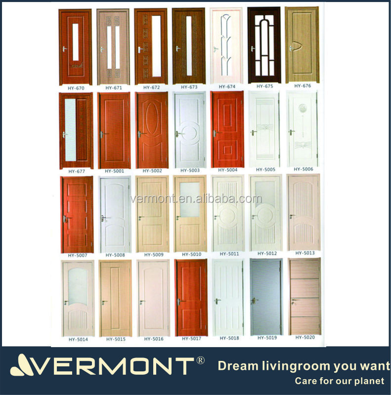latest design pvc laminated door