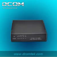 Smart setup mini desktop ethernet network 5 10/100M ports switch