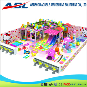 Children Franchise 2016 Kates Playground With Plastic Slides And Ball Pools