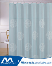 Decorative cross linen Panel Embroidered Fabric Shower Bath Curtain