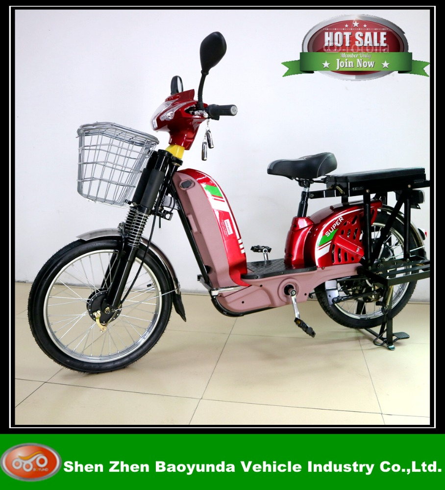 electric dirt bike 48v Adult electric 450W electric battery with basket and pedal plate