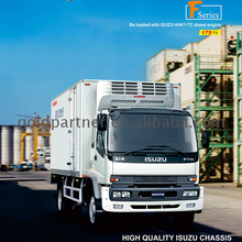 China Made FTR Isuzu refrigerated van truck for Coke frozen cargo meat ice cream sale