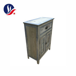 Custom Antique Style Furniture Wooden Vintage Industrial Drawer Storage Bedside Cabinet