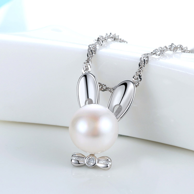 Rabbit cage pendant charms natural freshwater peal jewelry 925 sterling silver pearl cage pendant