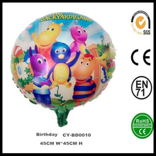"Wholesale Inflatable 18"" Round Shaped The Backyardigans Happy Birthday Helium Foil Balloon,Happy Birthday Party Balloon"