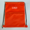 210t 190t 420d polyester red custom drawstring backpack bag with zipper