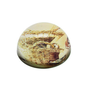 HX-7403-1 Cute Animal Round Glass Globe Paperweights