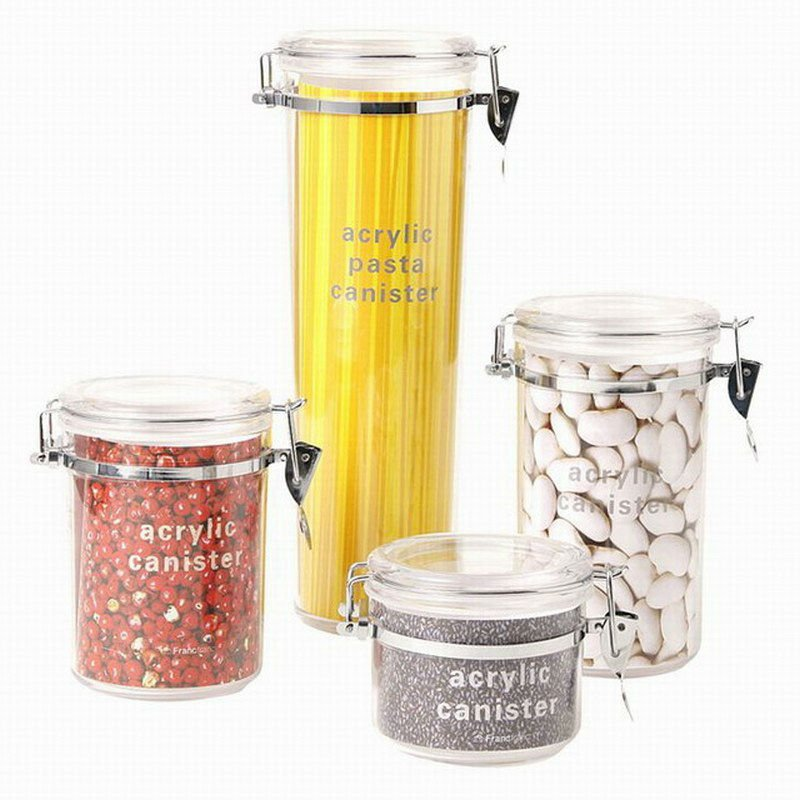 Food Storage Airtight Container/Jar/ Box/Canister with clip Lid