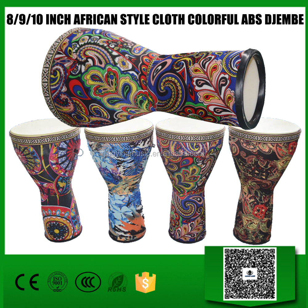 WMD08/09/10-3 8/9/10 inch African Style Cloth Colorful ABS Djembe