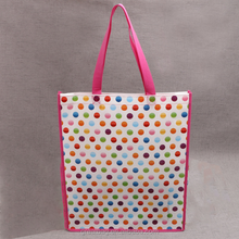 promotional custom cheap colorful printing tote laminated non woven bag