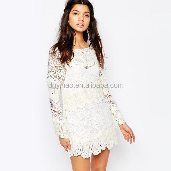 China de compras en línea de patrones vestido de encaje de ganchillo ...