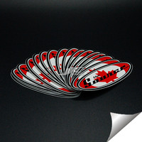 0.12mm 5 water proof vinyl adhesive stainless steel sticker