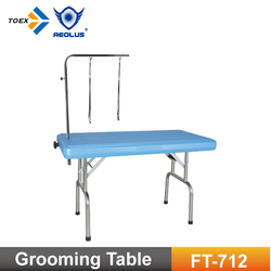 FT-712 wholesale dog cleaning foldable table light weighted pet grooming table