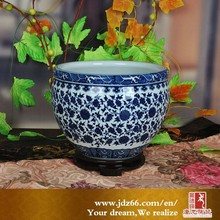 Antique porcelain high quality chinese ceramic blue and white flower pot for new year gift