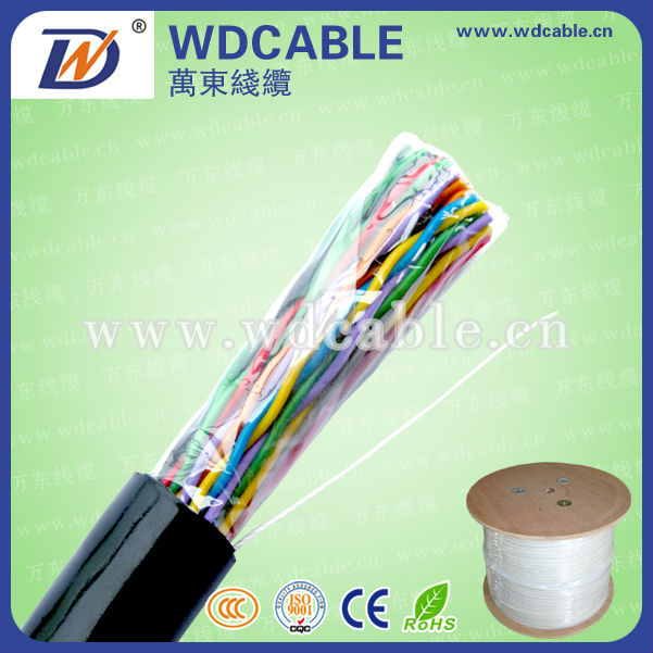 2015 WD factory price 25 50 100 pair jelly filled outdoor telephone cable