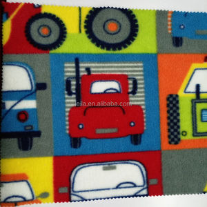 China supplier ShaoXing factory custom printed designer antipilling brushed polar fleece fabric