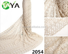2014 casual african indian lace fabric corded net lace for lady garment