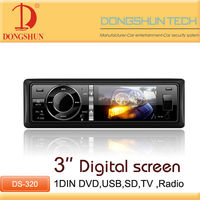 1 din auto radio DVD player car stereo with USB/SD,TV,AUX-IN