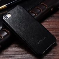 Cell phone flip leather case for Apple I phone 5 mobile