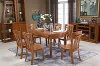 The chinese antique style wooden round folding dining table