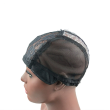kosher half plastic black stretch adjustable human hair weaving dome mesh head cap swiss lace cap for wig net