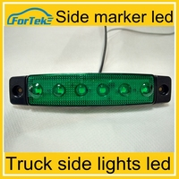 led 24V truck led side marker lamp green truck led lights