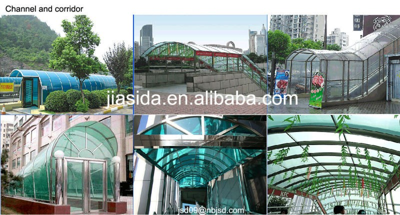 Grade A Twin Wall Polycarbonate Hollow Sheet for Green house