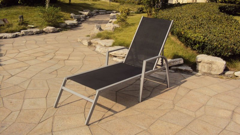 Black Outdoor Patio Furniture Chaise