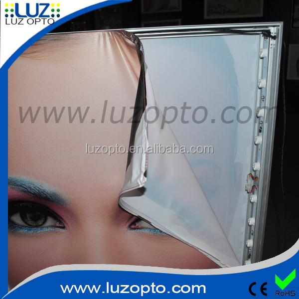 Aluminium frameless fabric led light box