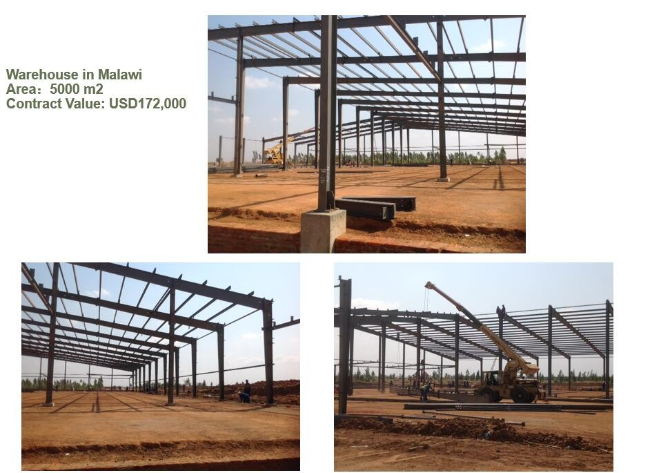 2500sqm steel structure warehouse buildings