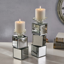 square glass candle holders tealight insert cheap