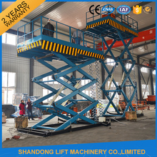 Bearing 2 Tons Stable Stationary Hydraulic Scissor Lifts For Big Warehouse