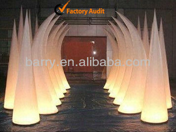 Hot sale inflatable lighting cone, nightclub decoration lighting