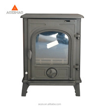 OEM cast iron indoor fireplace wood burning stove with side door