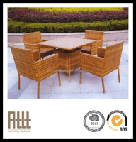 2015 Modern plastic outdoor table and chairs metal garden furniture AWRF5130