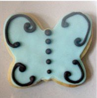 wedding Classic Tiffany Butterfly cookie